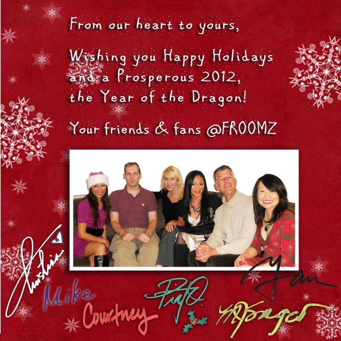 Happy Holidays from the Froomz Family