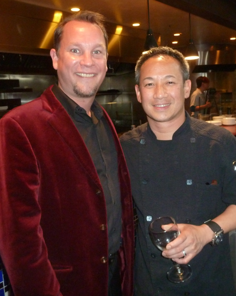 Studio Gourmet Host Brad Lev with Chef Arnold Eric Wong