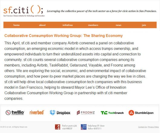 Froomz | Collaborative Consumption Working Group on sf.citi