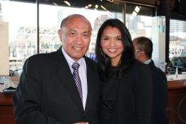 Ben Menor and Catherine Buan Peterson, President of the Ayala Foundation USA | FroomzBlog