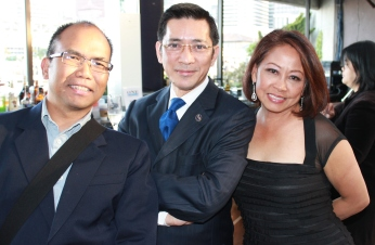 SF Entertainment Commissioner Al Perez, Philippine Consul Reginald Bernabe and Sonia Delen, Senior VP Bank of America Merrill Lynch | FroomzBlog