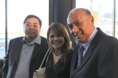 Francis Espiritu (publisher of Philippine News), Angie Louie (president of the SF Fil-Am Chamber of Commerce) with community leader Ben Menor | FroomzBlog