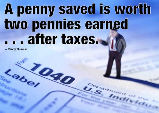 a penny saved is worth two pennies earned