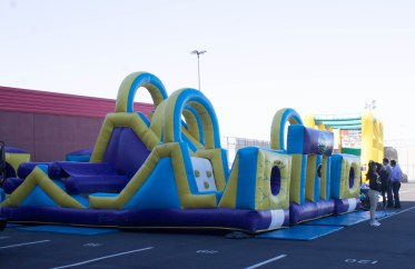 Giant Inflatable Obstacle Course at Tech Carnival 2013